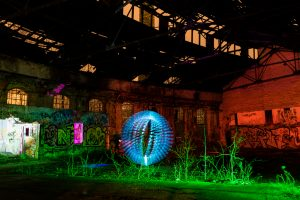 Light Art trifft Lost Place