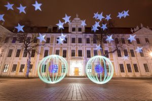 Light Art Parlament Magdeburg
